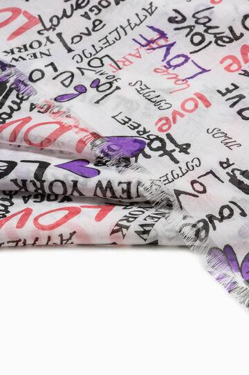 Lettering pattern scarf