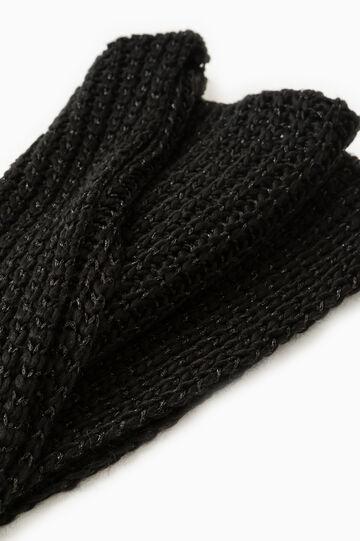 Wide knit scarf, Black, hi-res