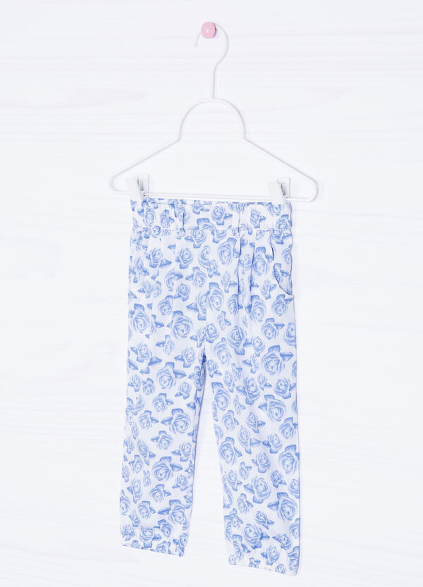 Trousers with flower print | OVS