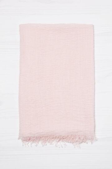 Viscose blend crumpled scarf., Mauve, hi-res