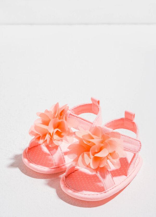 Sandali in tessuto a pois con fiore | OVS