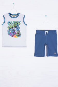 100% cotton outfit by Maui and Sons, Blue/Green, hi-res