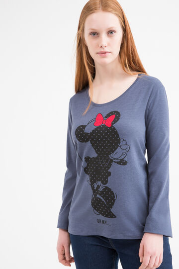 Stretch Curvy T-shirt with Minnie Mouse print