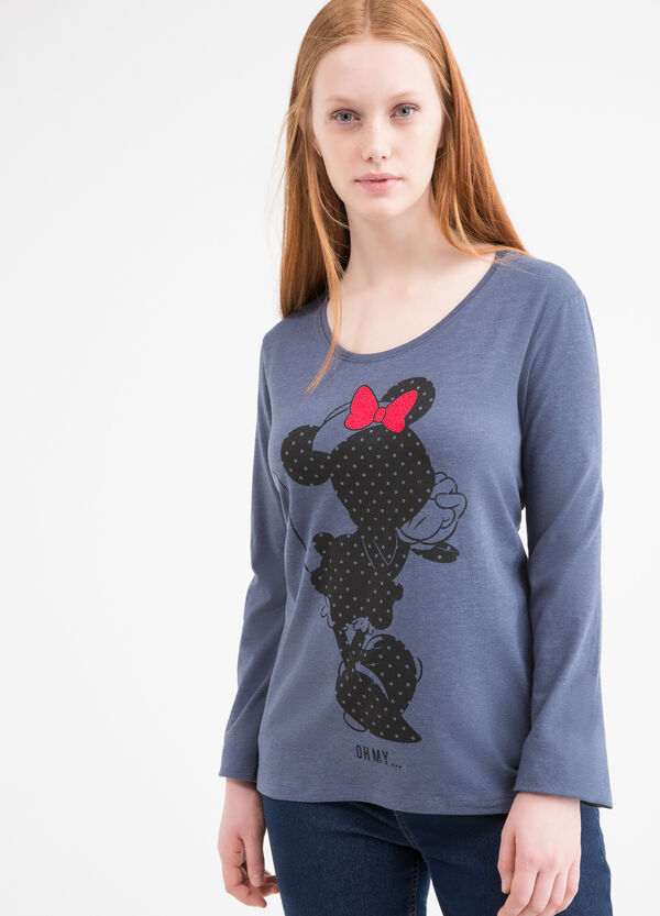 Stretch Curvy T-shirt with Minnie Mouse print | OVS