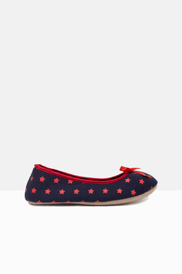 Printed ballerina flat slippers, Grey/Red, hi-res