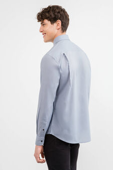 Cotton blend formal shirt, Light Grey, hi-res