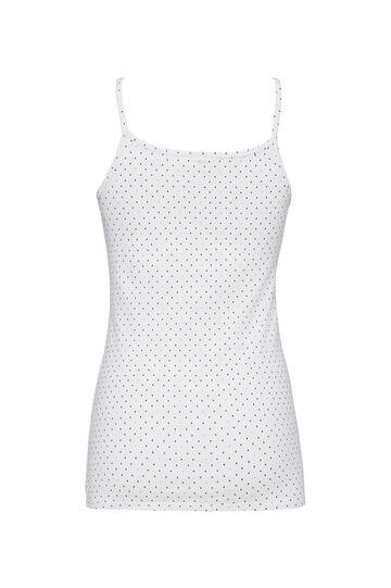 Two-pack patterned stretch vests, White/Black, hi-res