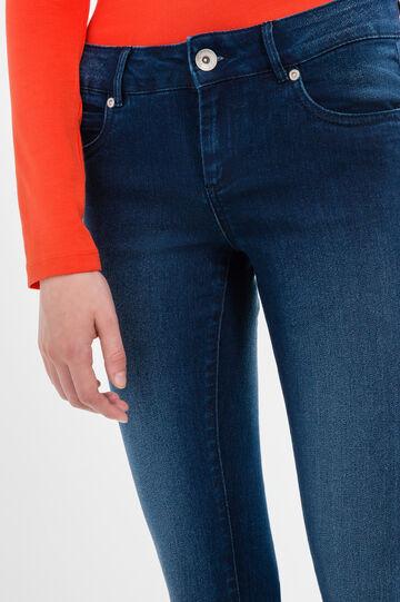 Skinny-fit, faded-effect jeans, Dark Wash, hi-res