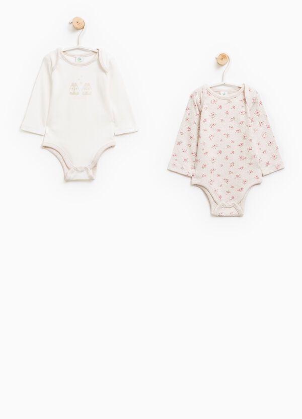 Two-pack bodysuits with Chip 'n' Dale and flowers print | OVS
