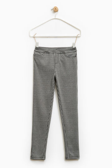 Stretch jeggings with all-over print, Grey, hi-res