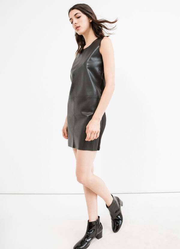 Sleeveless dress in viscose blend. | OVS