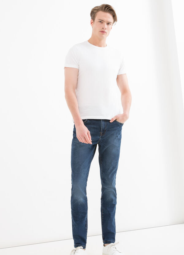 Loose-fit worn stretch jeans | OVS