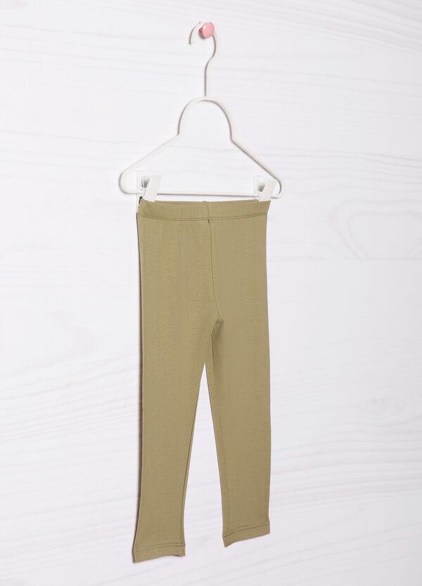Leggings cotone stretch tinta unita   OVS