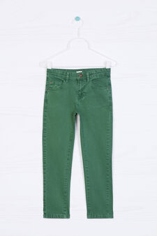 5-pocket stretch chino trousers, Green, hi-res