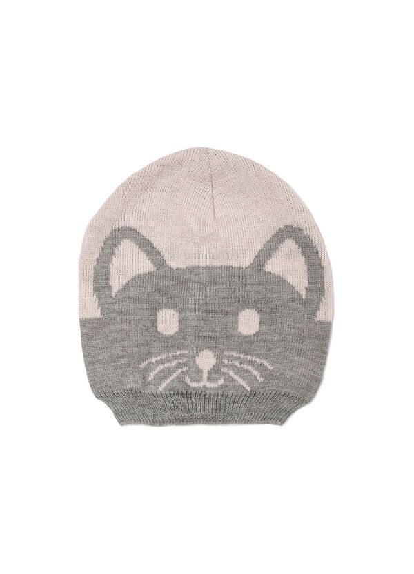 Hat with embroidered kitten | OVS