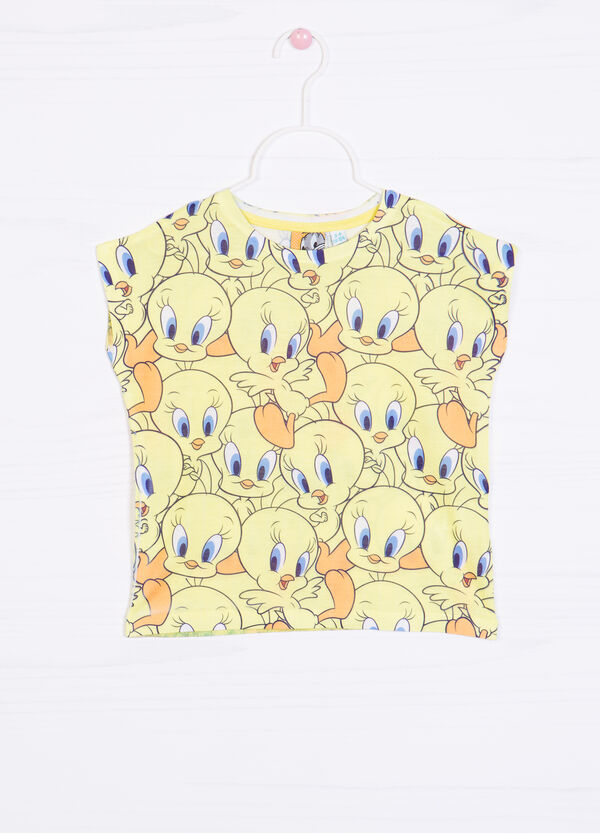 Tweetie Pie print sleeveless T-shirt | OVS