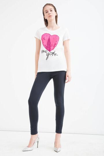 Printed modal cotton T-shirt
