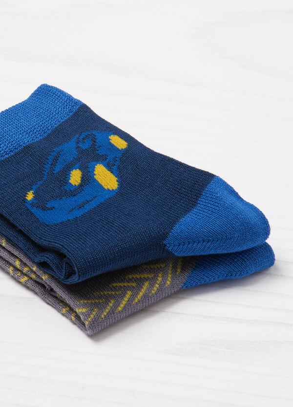 Two-pair pack of printed socks | OVS