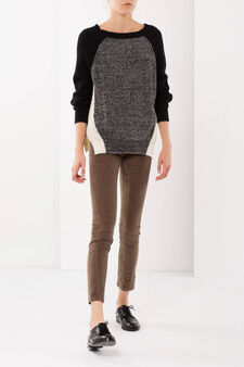 Cotton trousers, Mud Brown, hi-res