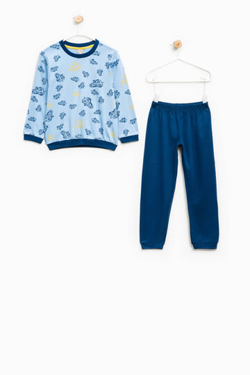 Cotton pyjamas with robot print