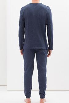 100% cotton printed pyjamas, Denim Blue, hi-res