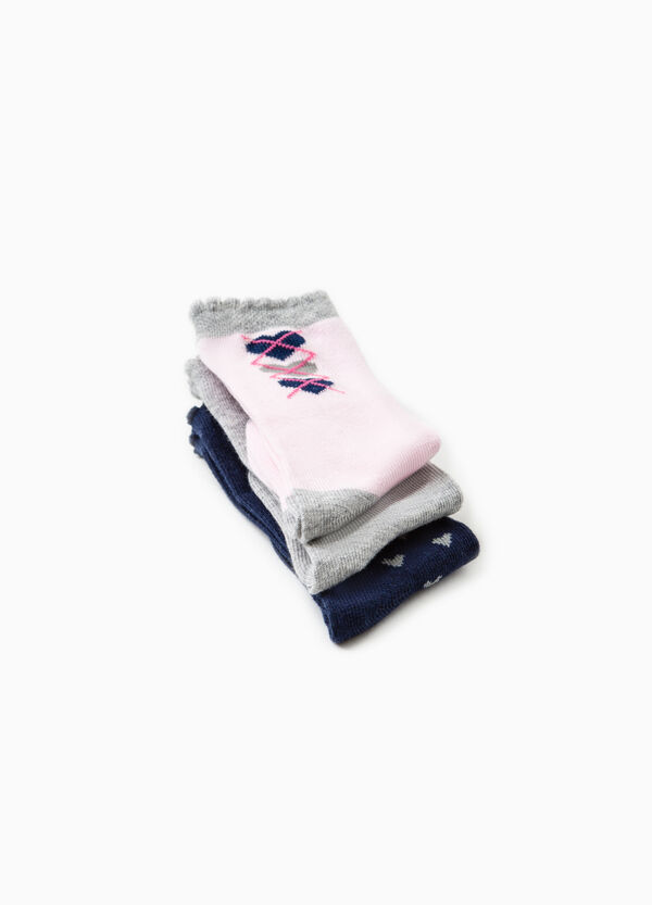 Set tre paia di calze lunghe cotone | OVS
