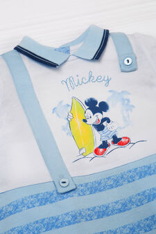 Mickey Mouse romper suit, White/Light Blue, hi-res