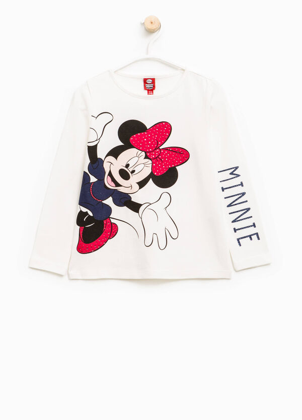 Stretch T-shirt with Minnie Mouse print | OVS