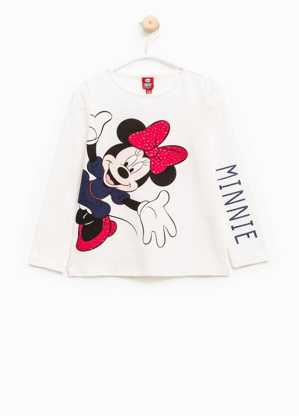 Camiseta elástica con estampado de Minnie | OVS
