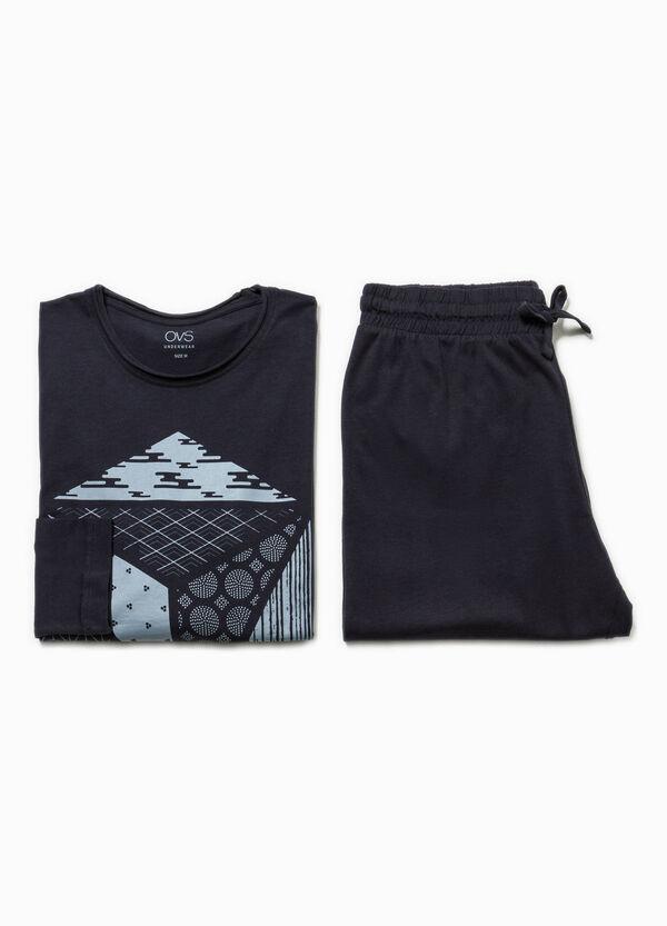 100% cotton pyjamas with raw edges | OVS