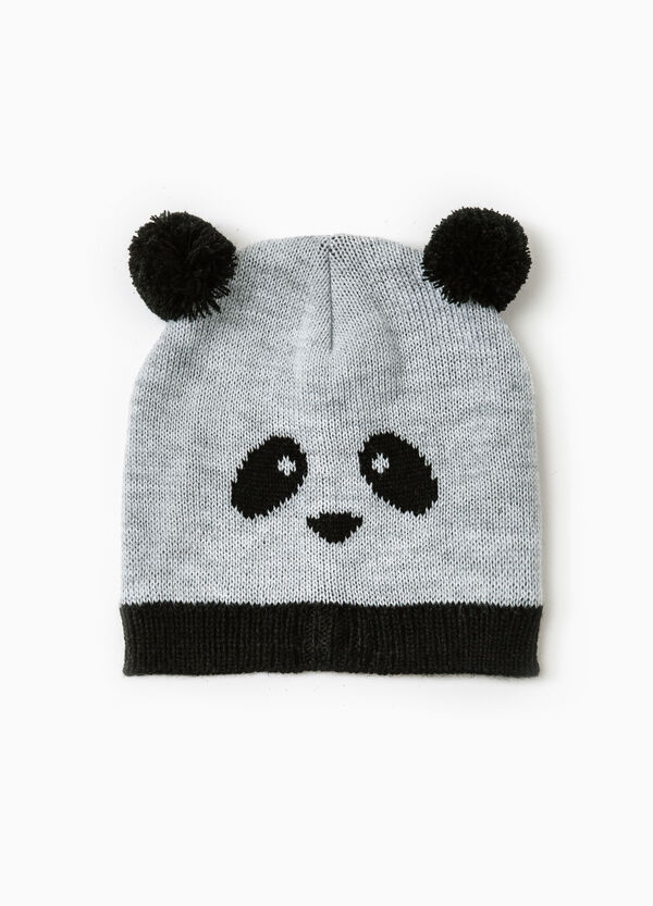 Beanie cap with embroidered panda | OVS