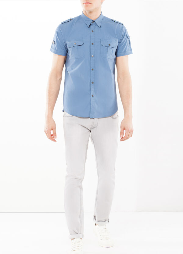 Shirt with sleeve pocket | OVS