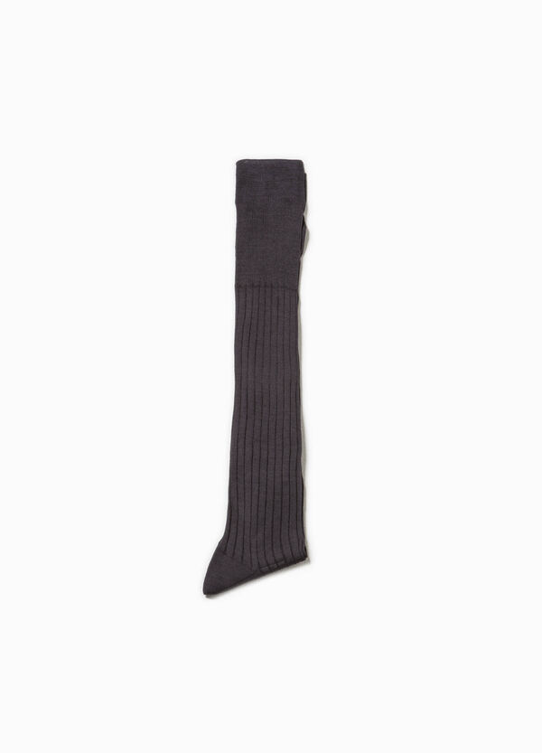 Long socks with ribbed weave | OVS