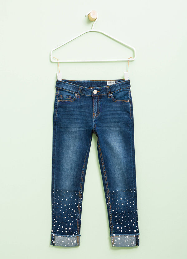 Jeans super skinny fit con strass | OVS