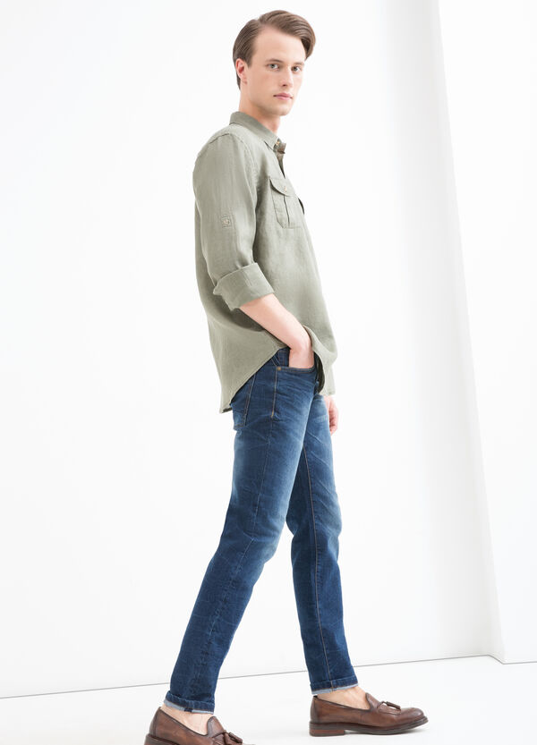 Camicia puro lino taschini | OVS