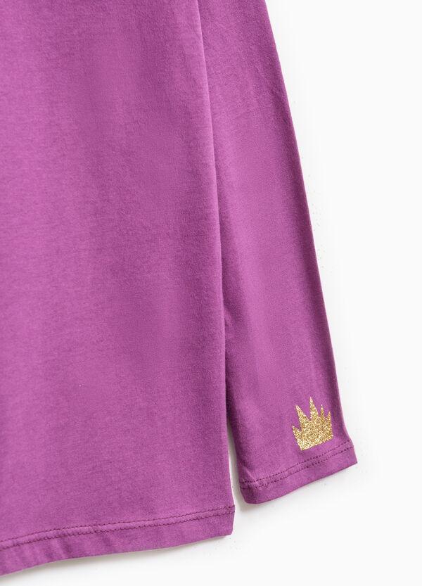 100% cotton T-shirt with glitter print | OVS