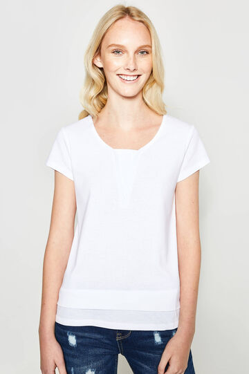 T-shirt with faux layering