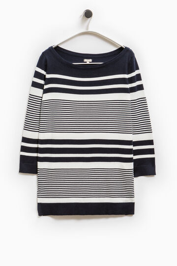 Smart Basic striped pullover, White/Blue, hi-res