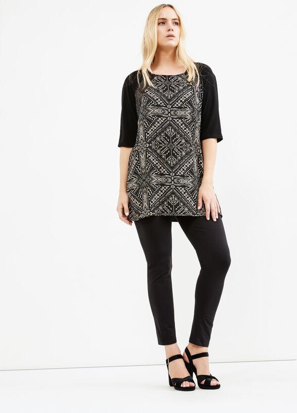 Curvy short printed dress | OVS