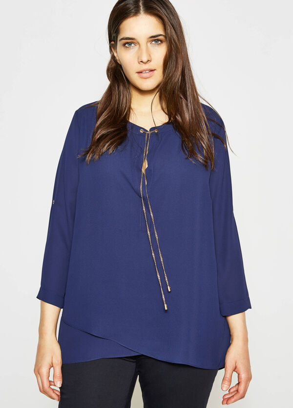 Curvy blouse with chain | OVS