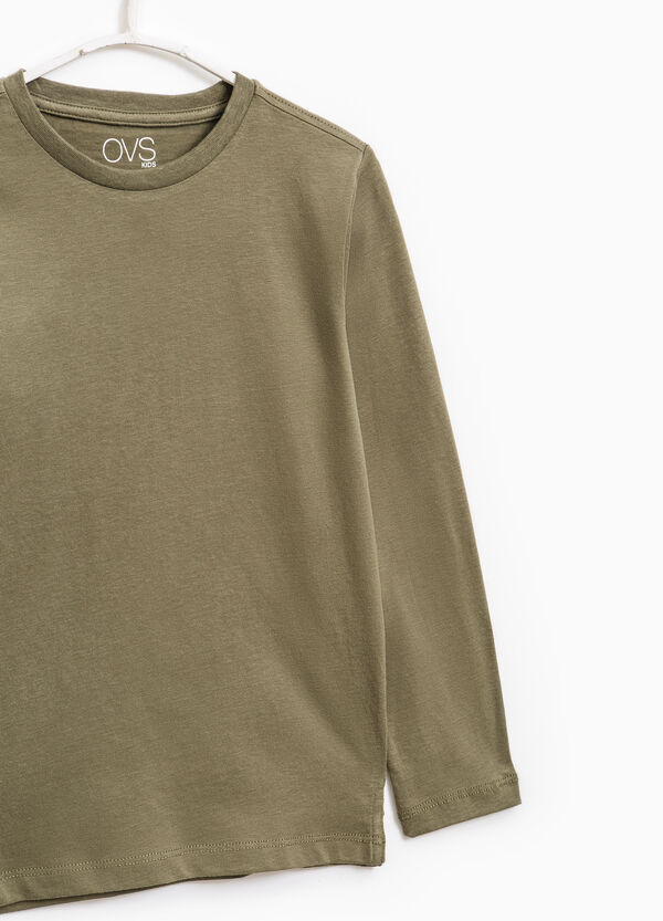Long-sleeved 100% cotton T-shirt | OVS