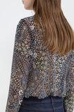 Multi-coloured floral print blouse, Black, hi-res