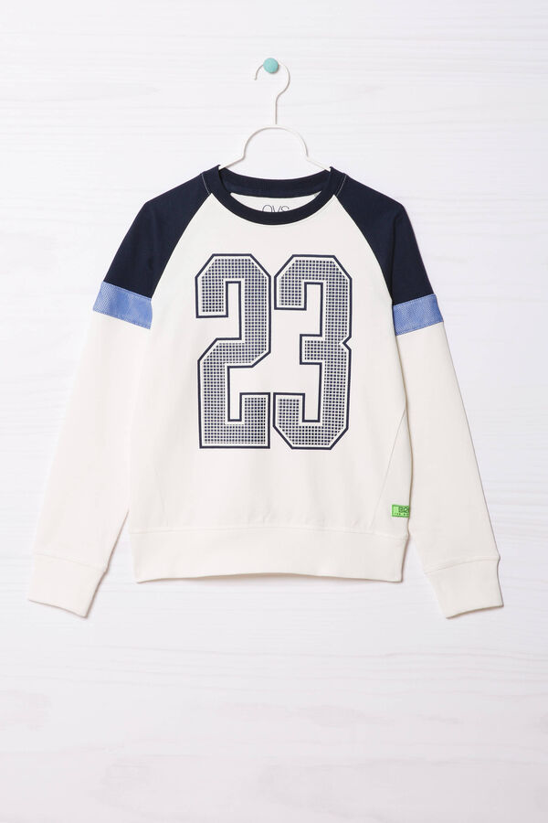 Printed sweatshirt in 100% cotton | OVS