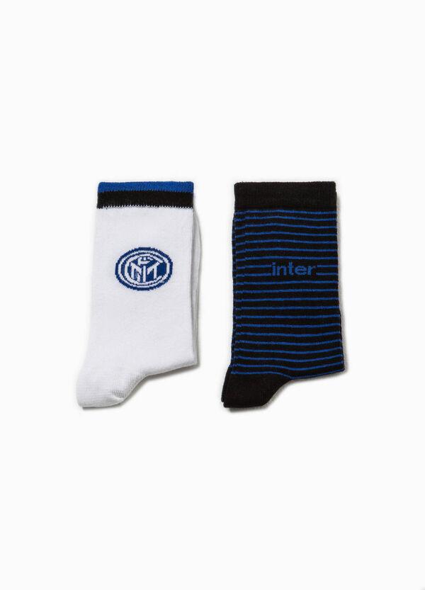 Set due paia di calze logo calcio   OVS