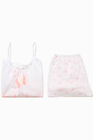 Degradé pyjamas with openwork design