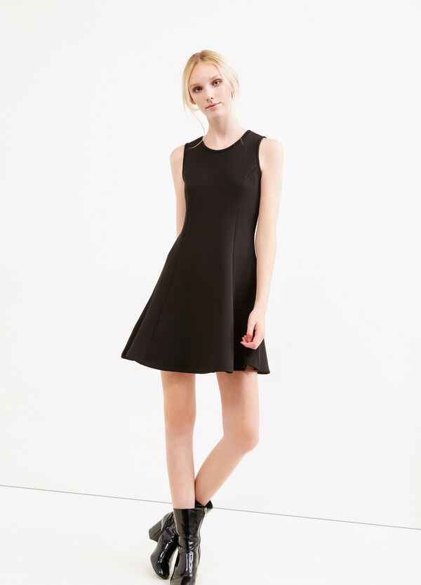 Short stretch dress with back opening | OVS
