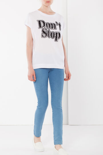 T-shirt smanicata, Bianco, hi-res