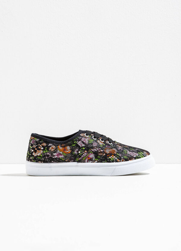 Mesh sneakers with floral pattern | OVS