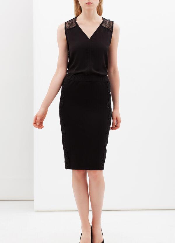 V-neck blouse with lace | OVS