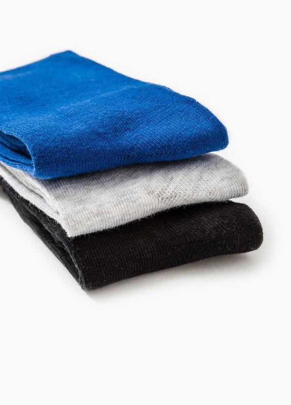 Set tre paia di calze lunghe tinta unita | OVS